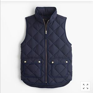 J crew excursion quilted down vest - Navy blue